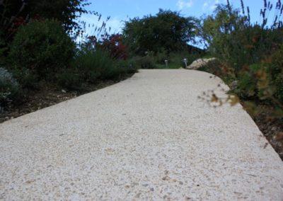 Chemin en beton
