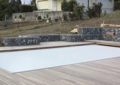 chantier gabion et deck