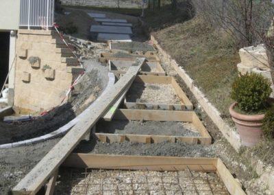 chemin d'acces en cours de chantier 1
